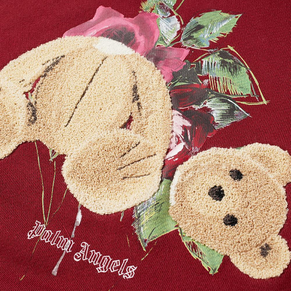 END. x Palm Angels Bear Rose Hoody - Burgundy