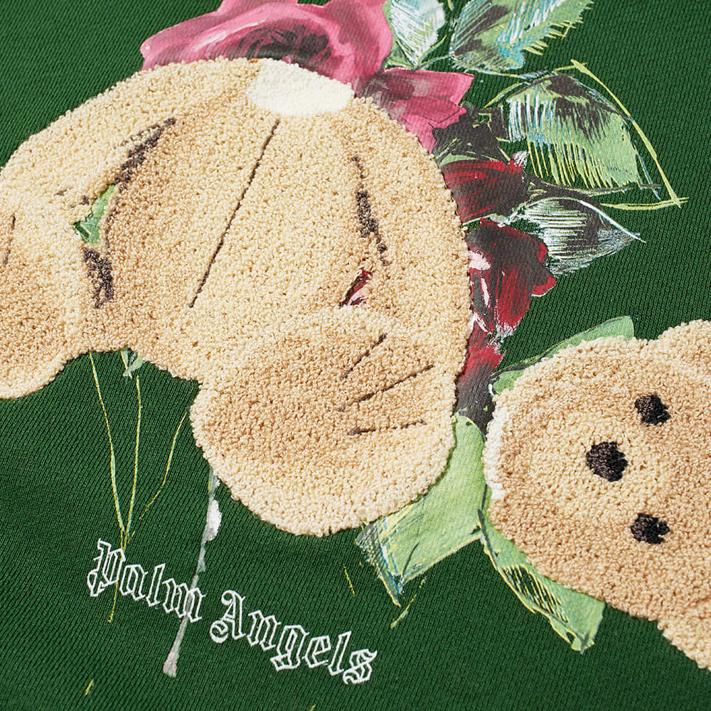 END. x Palm Angels Bear Rose Hoody - Green