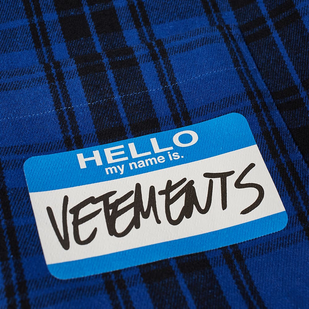 Vetements My Name Is Vetements Flannel Shirt - Blue Check