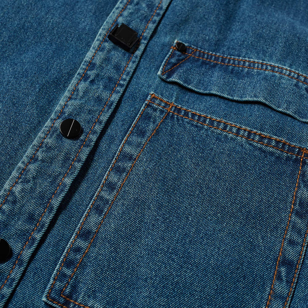 Wooyoungmi Back Logo Denim Shirt - Blue