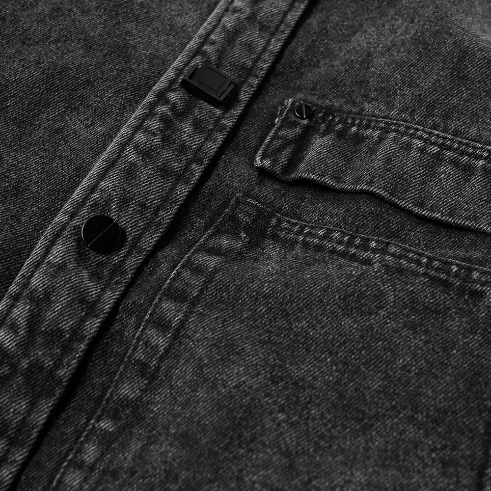 Wooyoungmi Back Logo Denim Shirt - Grey