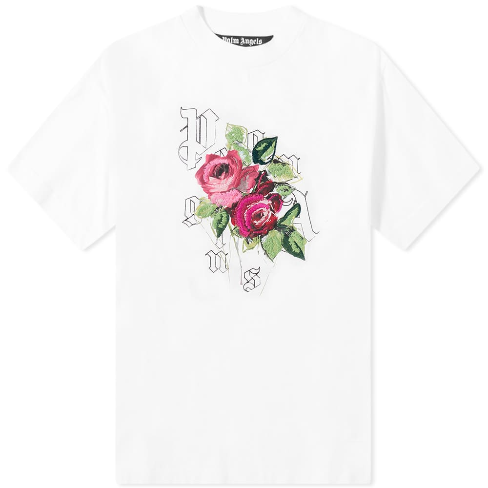 END. x Palm Angels Big Rose Tee - White