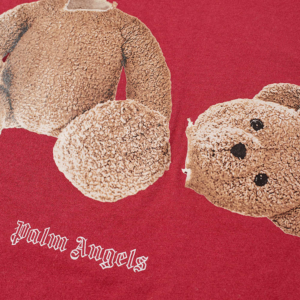 END. x Palm Angels Bear Rose Tee - Burgundy