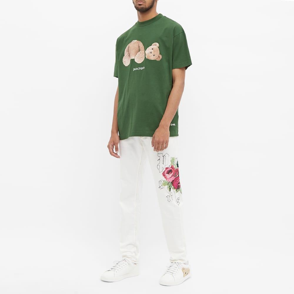 END. x Palm Angels Bear Rose Tee - Green