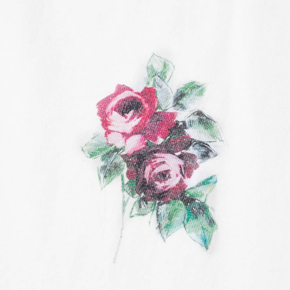 END. x Palm Angels Oversize Rose Tee - White