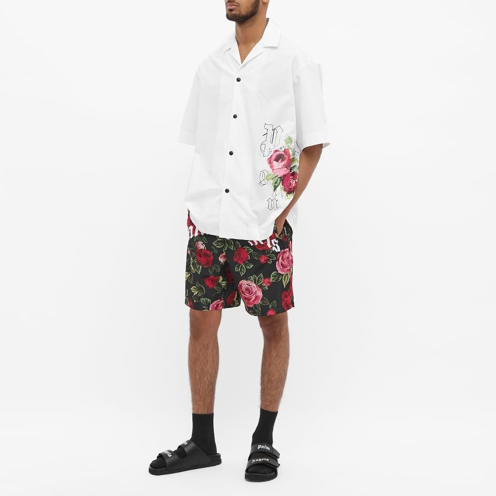 END. x Palm Angels Big Rose Bowling Shirt - White