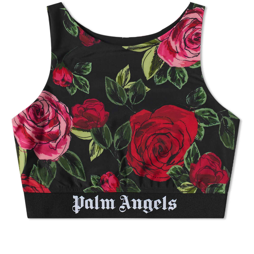 END. x Palm Angels Allover Rose Track Top - Black & Red