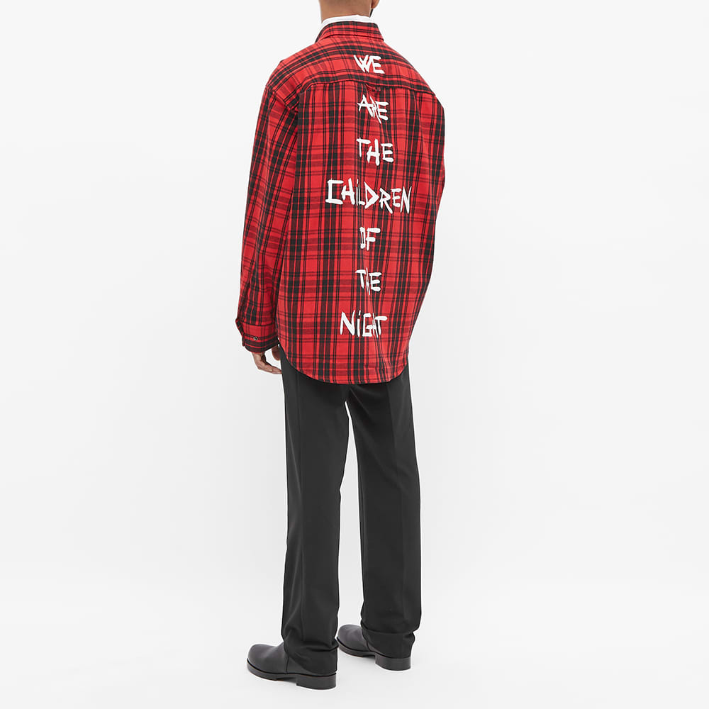 VETEMENTS Anarchy Check Flannel Shirt - Red Check