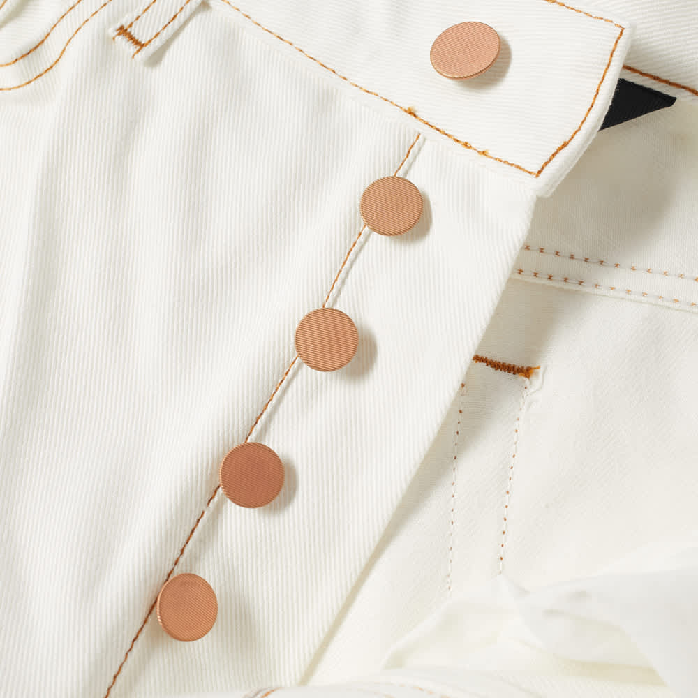 END. x Palm Angels Rose 5 Pocket Jean - White