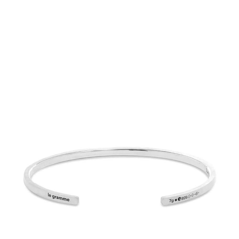 Le Gramme Brushed Ribbon Bracelet - Silver 7g