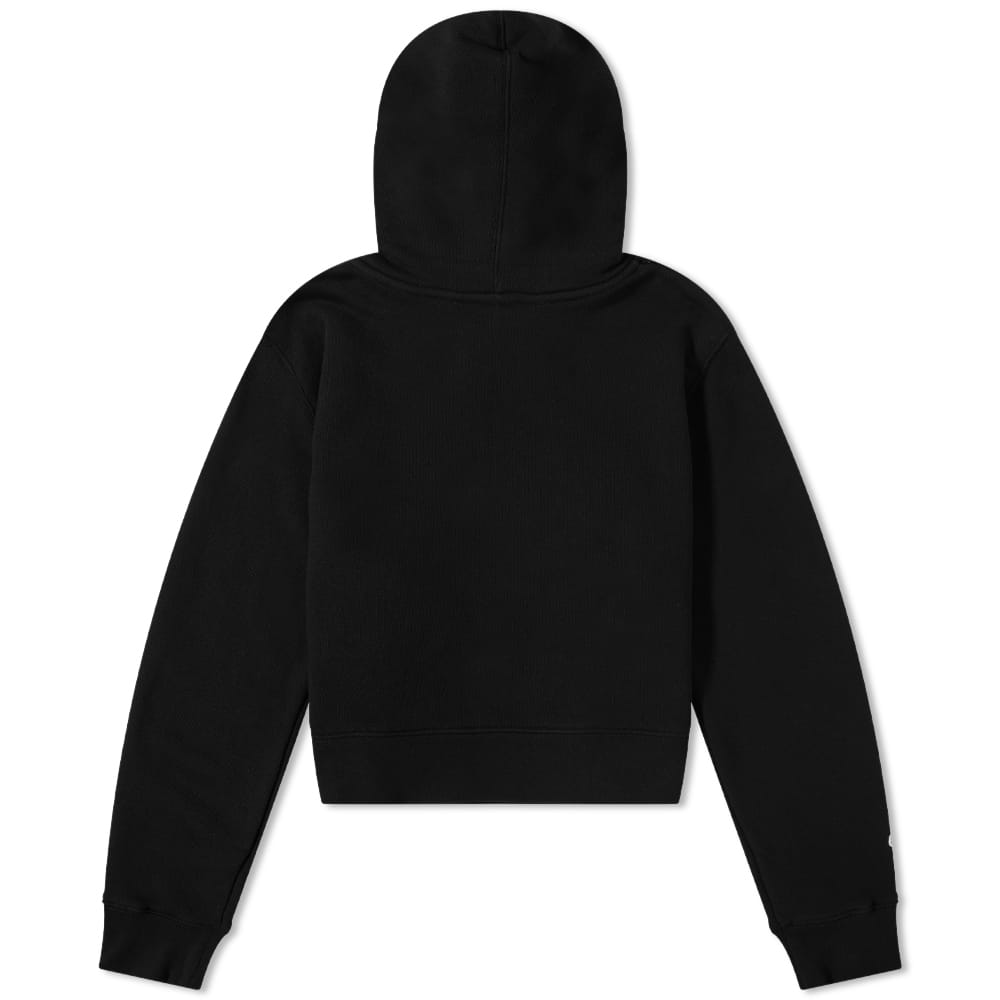 END. x Palm Angels Bear Rose Fitted Hoody - Black & White