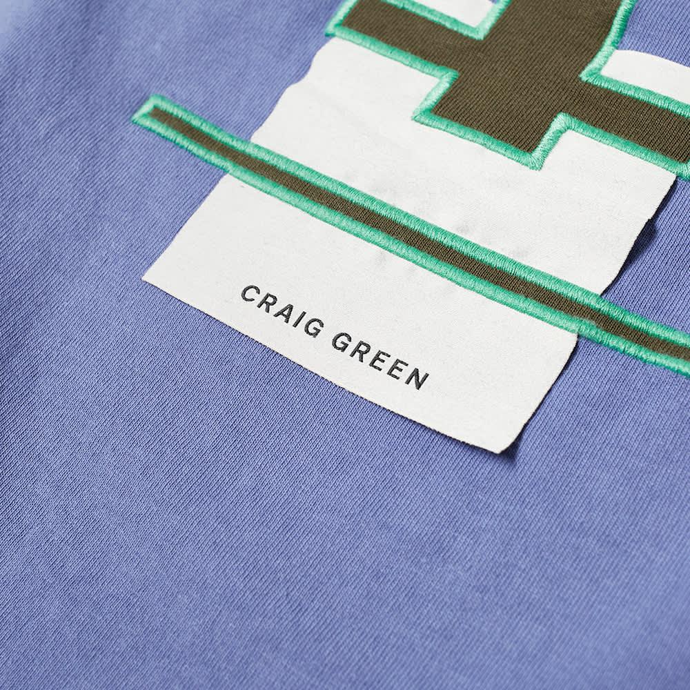 Champion x Craig Green Cut & Sew 90s Long Sleeve Tee - Black & Blue