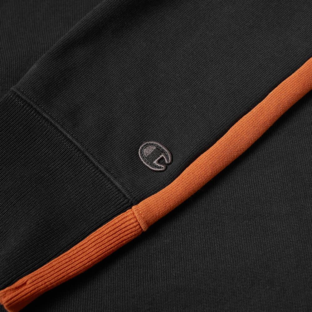 Champion x Craig Green Cut & Sew 60s Half Zip - Black & Orange
