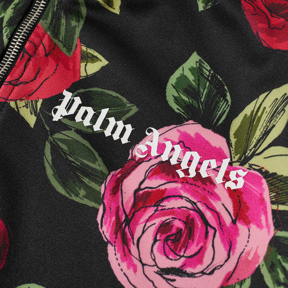 END. x Palm Angels Allover Rose Track Jacket - Black & Red