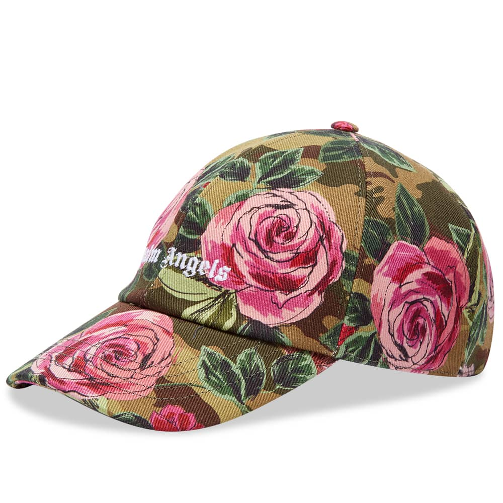 END. x Palm Angels Allover Rose Baseball Cap - Black & Red