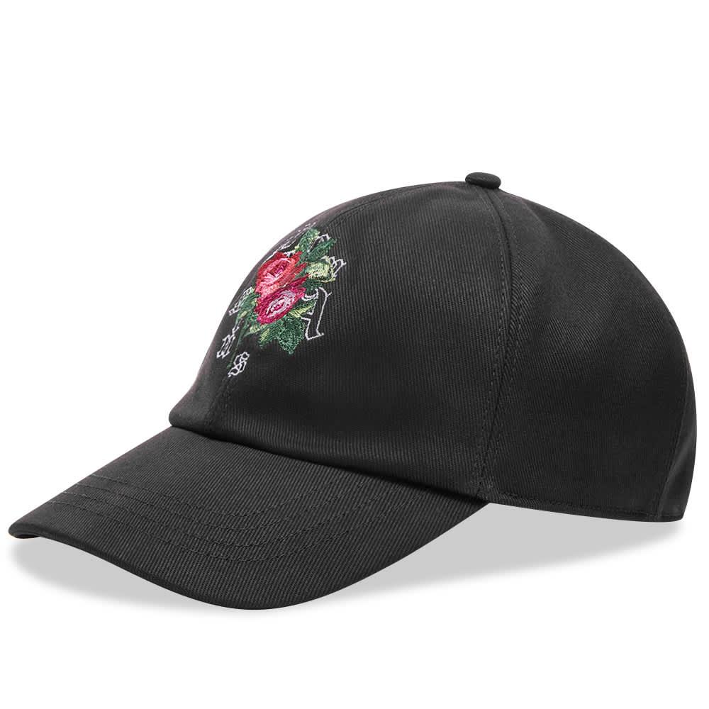 END. x Palm Angels Rose Baseball Cap - Black