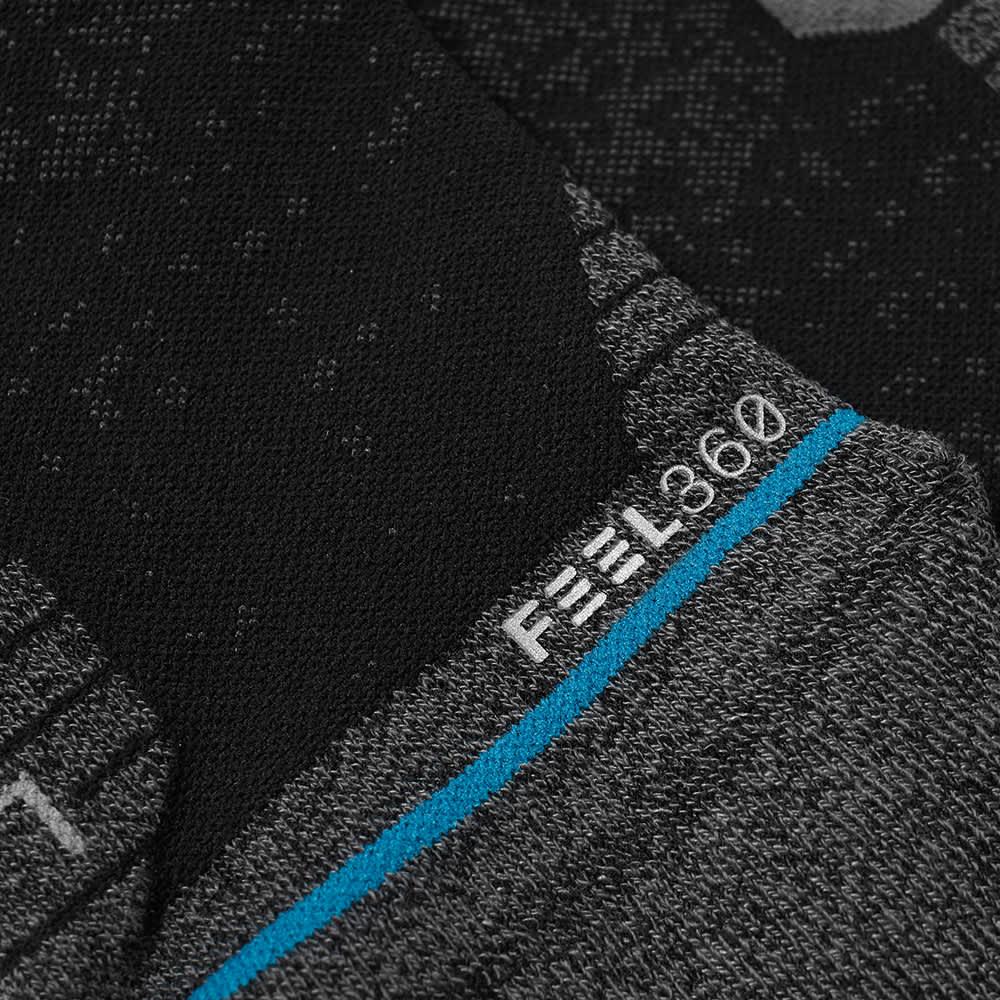 Stance Run Tab Sock - Black