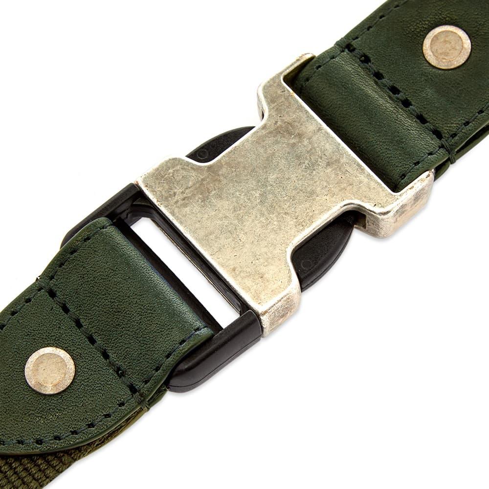 GR-Uniforma Woven Leather & Webbing Hybrid Belt - Khaki