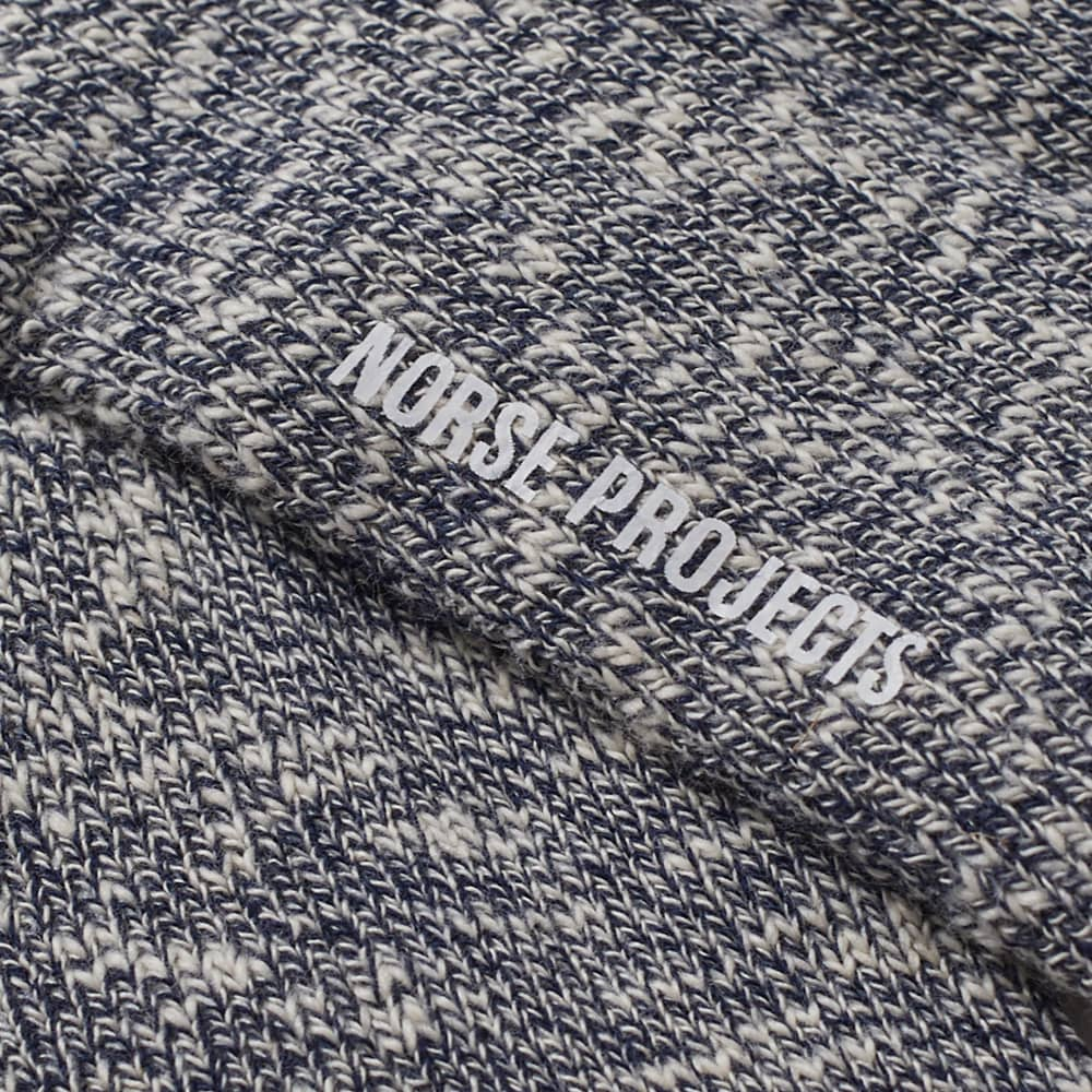 Norse Projects Ebbe Melange Sock - Dark Navy