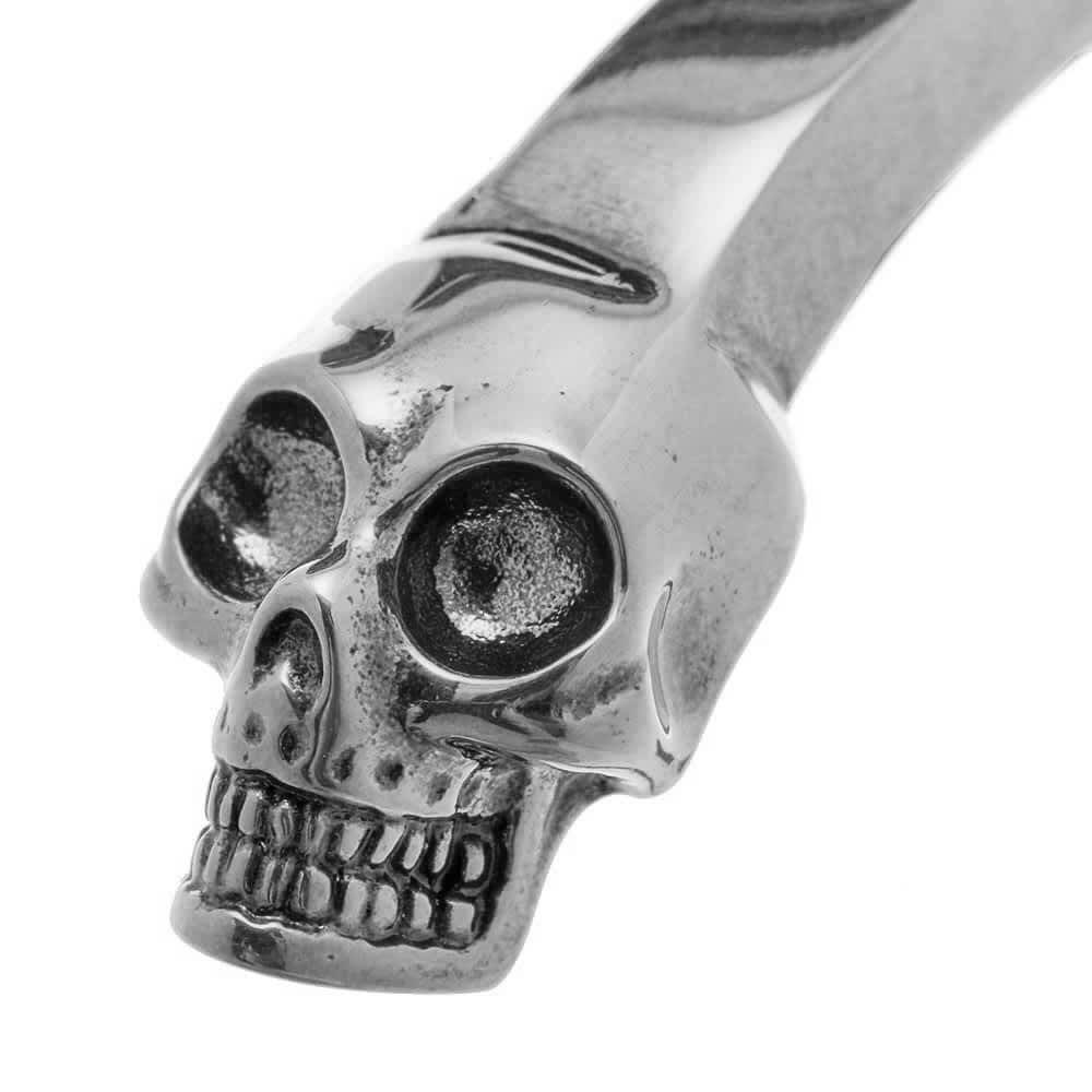Alexander McQueen Twin Skull Bracelet - Silver