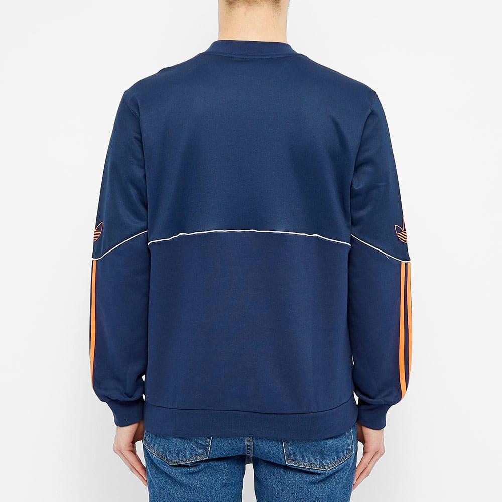 Adidas Outline Crew Fleece - Indigo