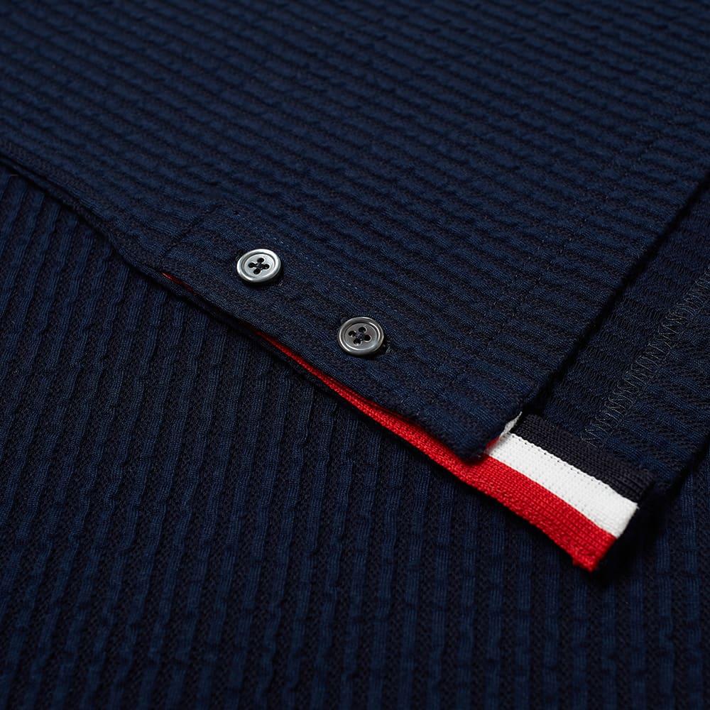 Thom Browne Seersucker Knit Ringer Tee - Navy