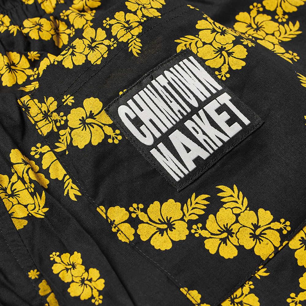 Chinatown Market Smiley Floral Short - Black