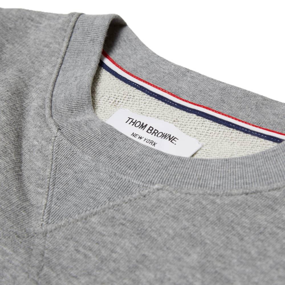 Thom Browne Classic Crewneck Sweatshirt - Light Grey Cotton Terry