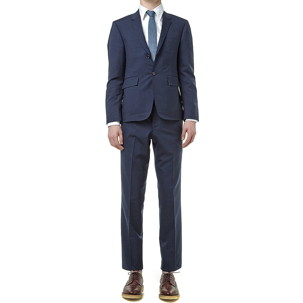 Thom Browne Classic Backstrap Trousers - Navy Wool