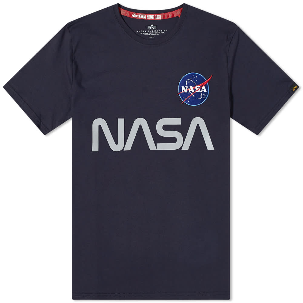 Alpha Industries NASA Reflective Tee - Replica Blue