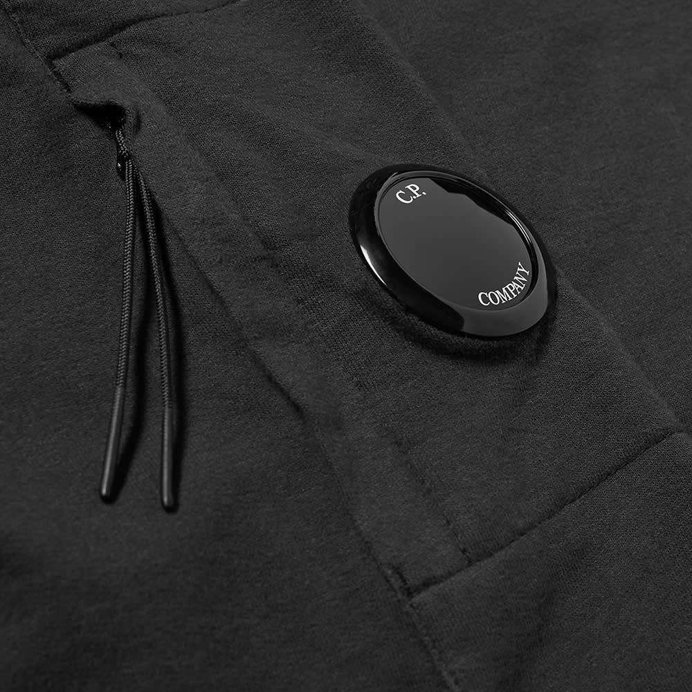 C.P. Company Arm Lens Button Funnel Neck Sweat - Black