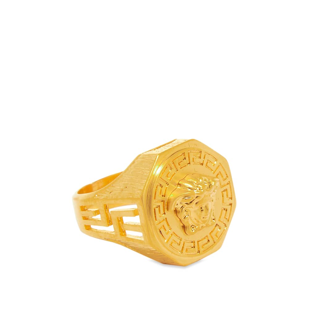Versace Gold Medusa Head Signet Ring W - Gold