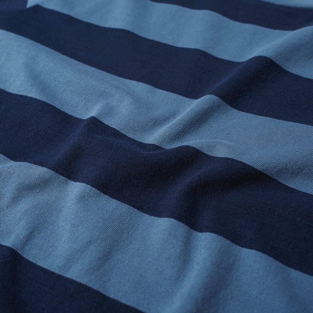 Save Khaki Rugby Stripe Crew Tee - Blue