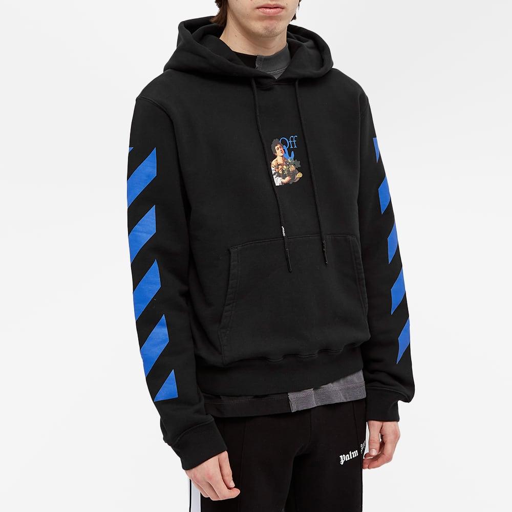 Off-White Caravag Boy Marker Slim Hoody - Black & Ligh