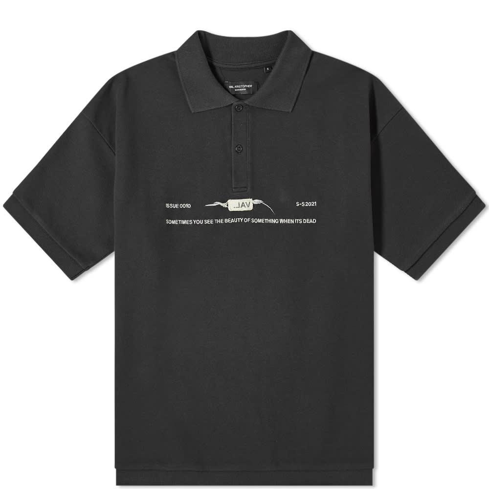 Val Kristopher Logo Polo - Black