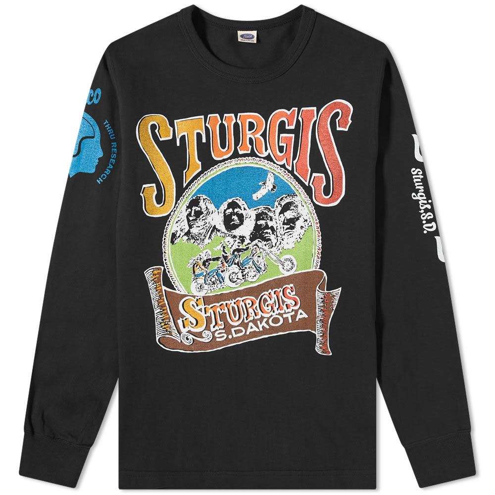 The Real McCoys Ls Buco Sturgis Tee - Black