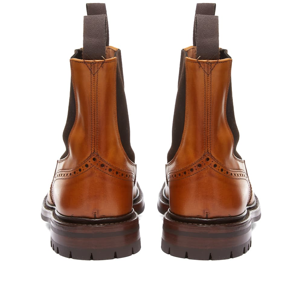 Tricker's Henry Brogue Chelsea Boot - Burnished
