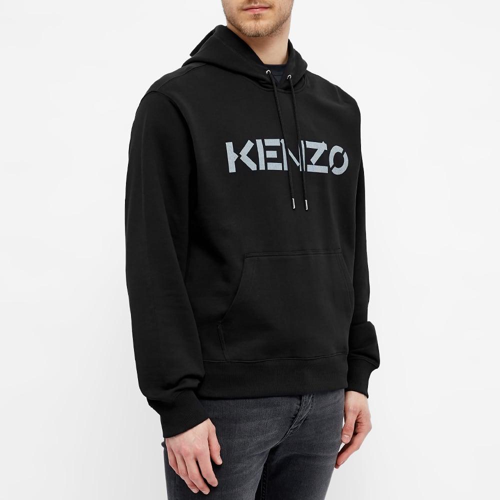 Kenzo Bi-Colour Logo Crew Hoody - Black