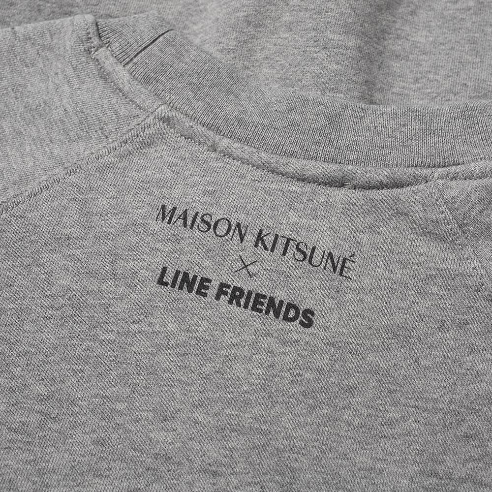 Maison Kitsuné x Line Friends Kitsuné Small Patch Crew Sweat - Grey Melange