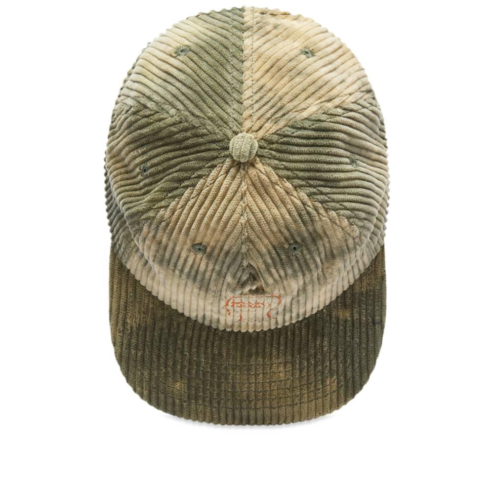 Brain Dead Bleached Cord Logo Head Cap - Green