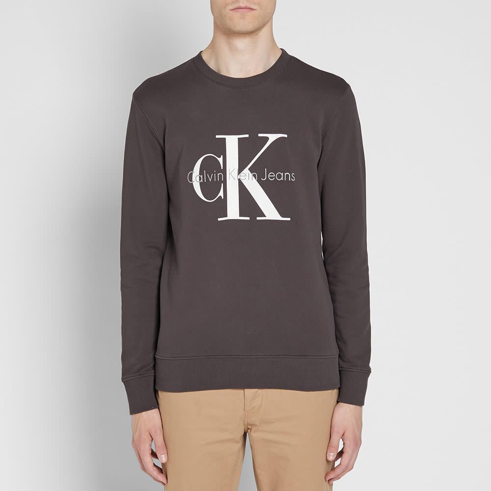 Calvin Klein CK Reissue Crew Sweat - Meteorite