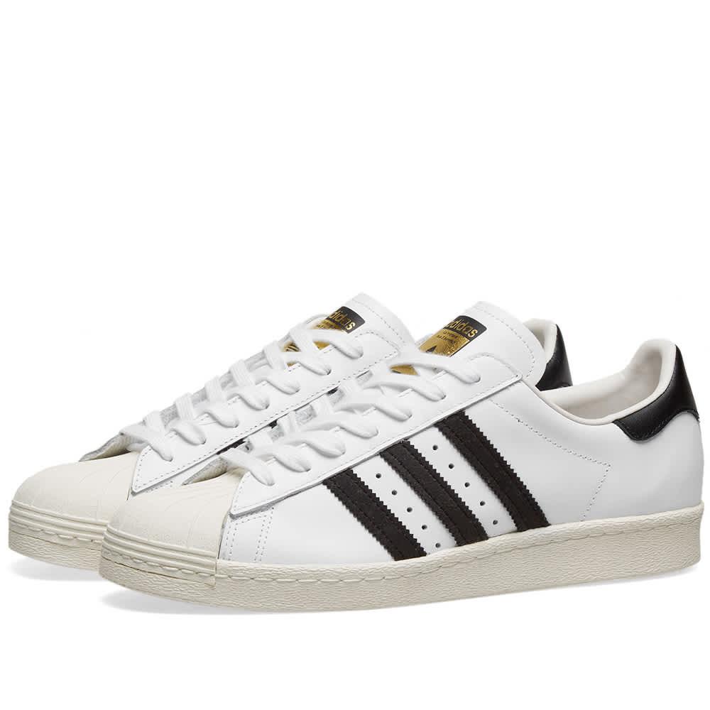 Adidas Superstar 80s - White, Black & Chalk