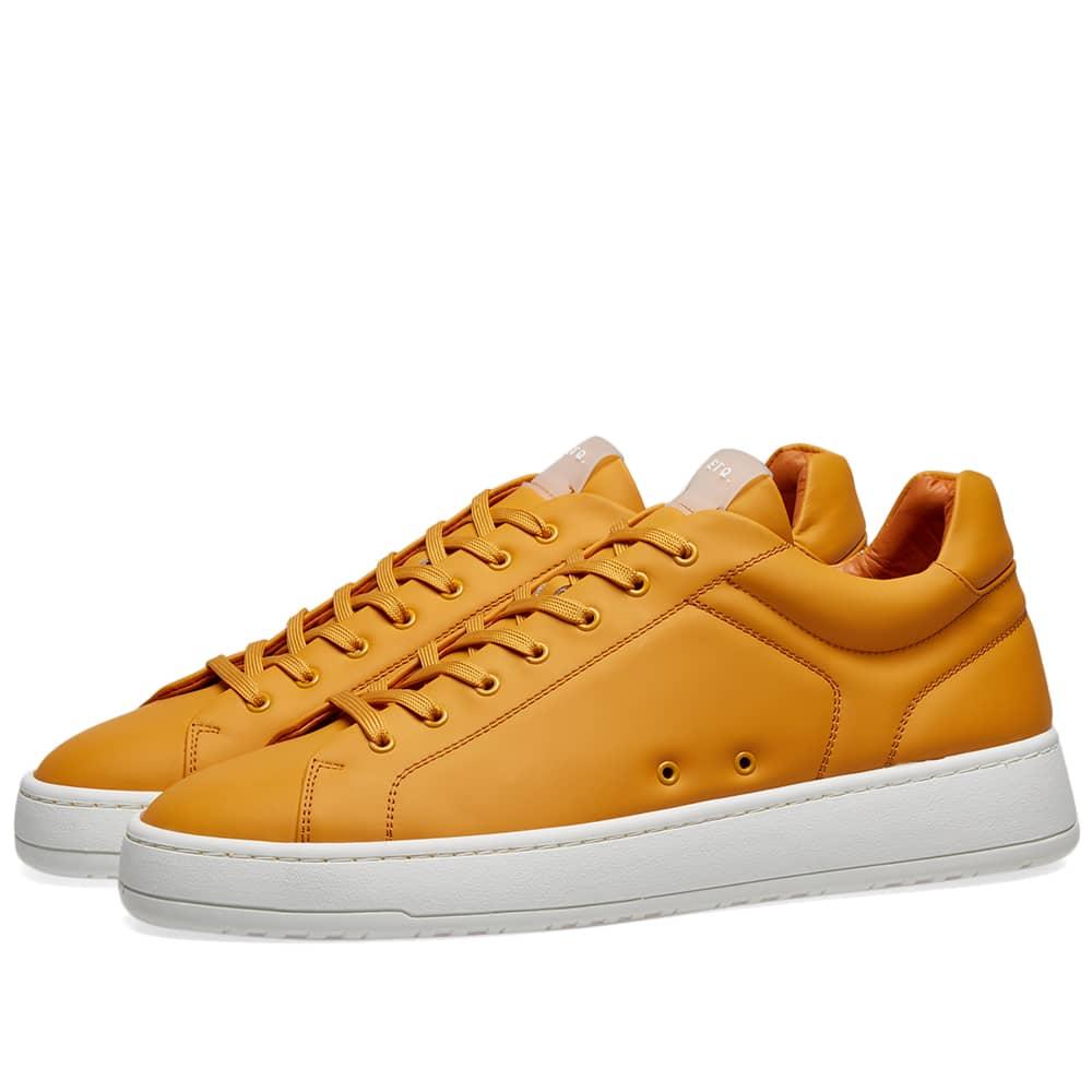ETQ. Low Top 4 Rubberised Sneaker - Sunflower