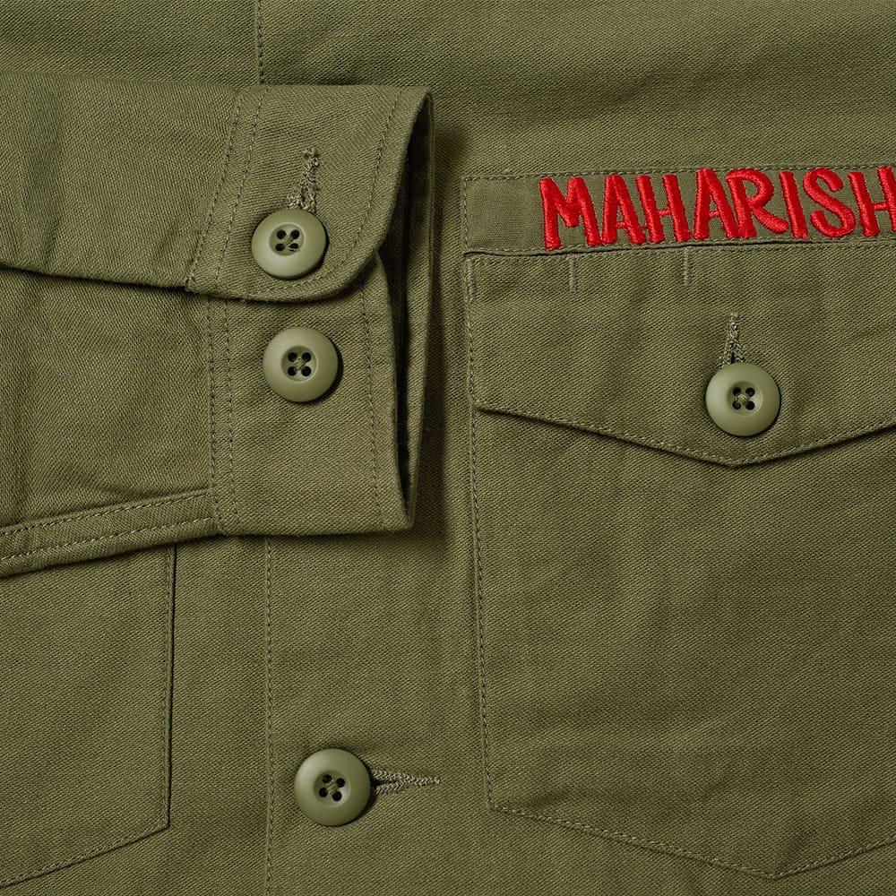 Maharishi Embroidered Dragon Shirt - Olive
