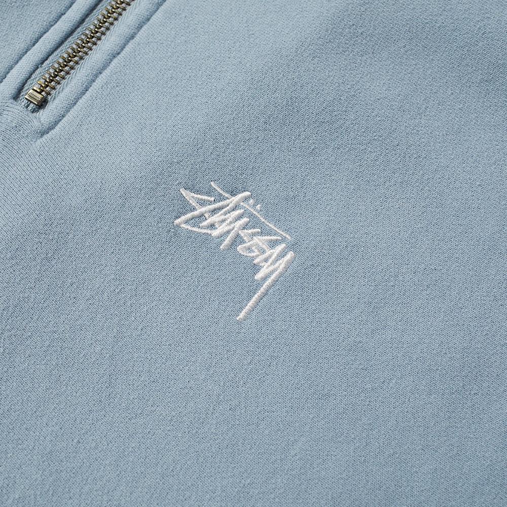 Stussy Stock Logo Mock Neck Sweat - Slate