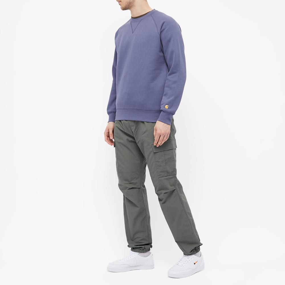 Carhartt WIP Chase Sweat - Cold Viola & Gold