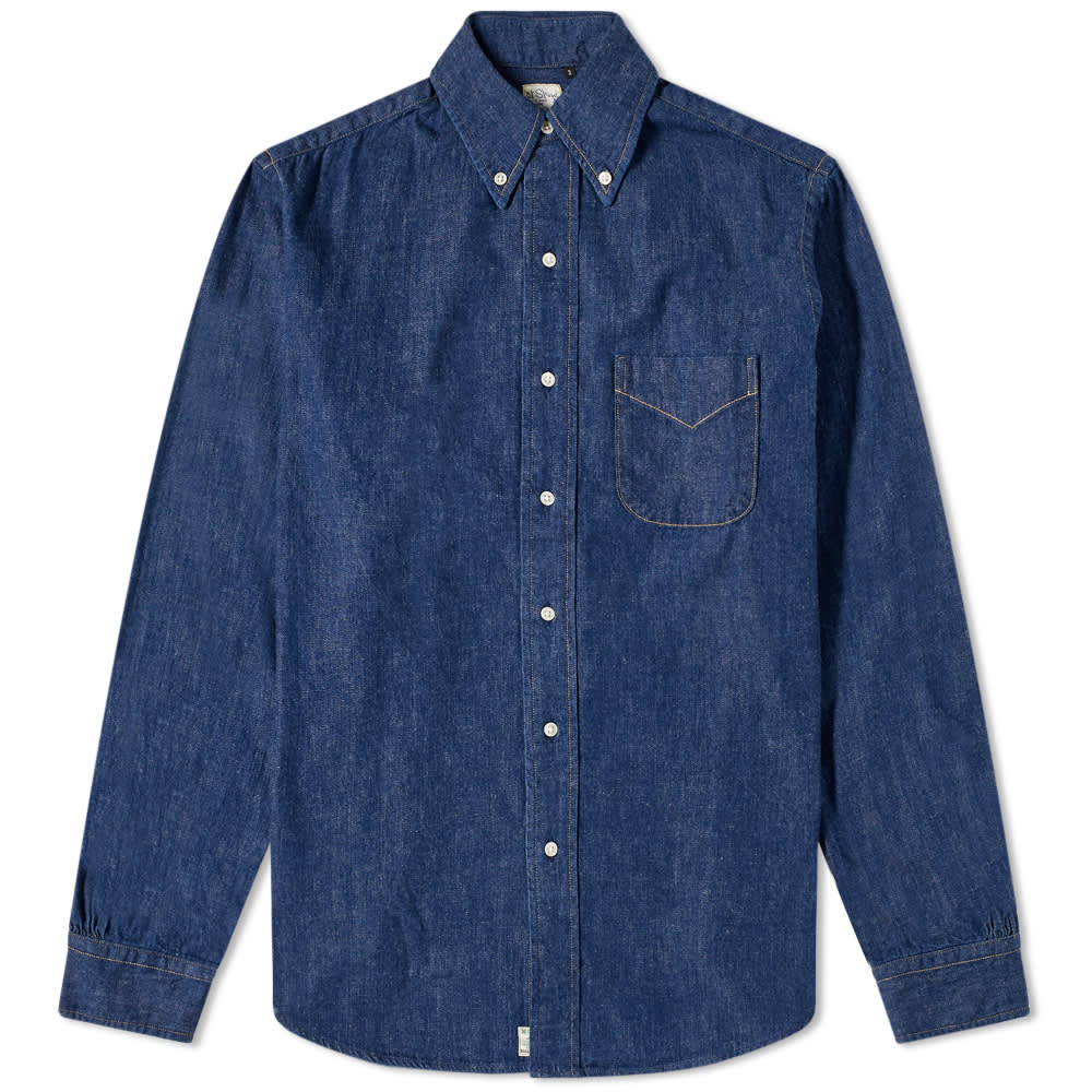 orSlow Button Down Denim Shirt - One Wash