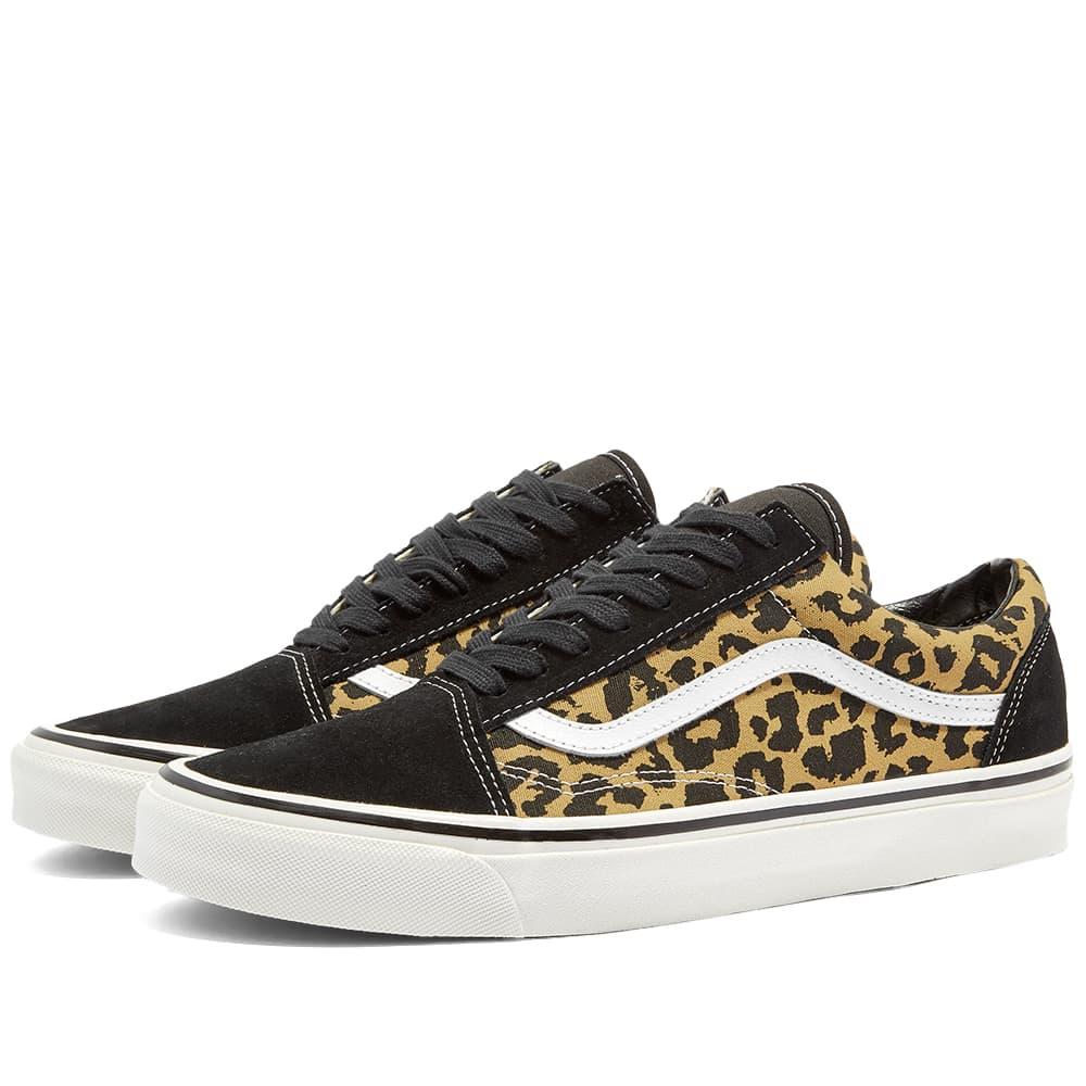 Vans UA Old Skool 36 Dx - Black & Tan Leopard