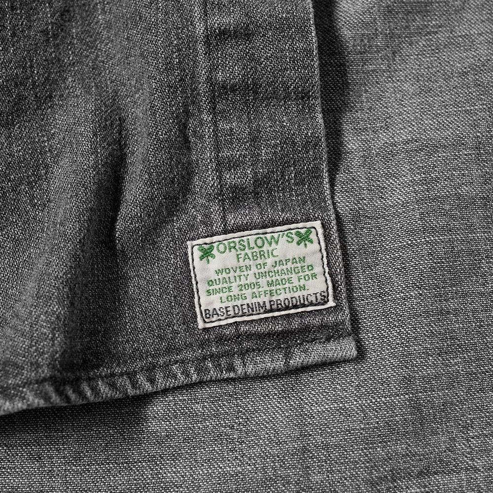 orSlow Denim Button Down Shirt - Black Denim