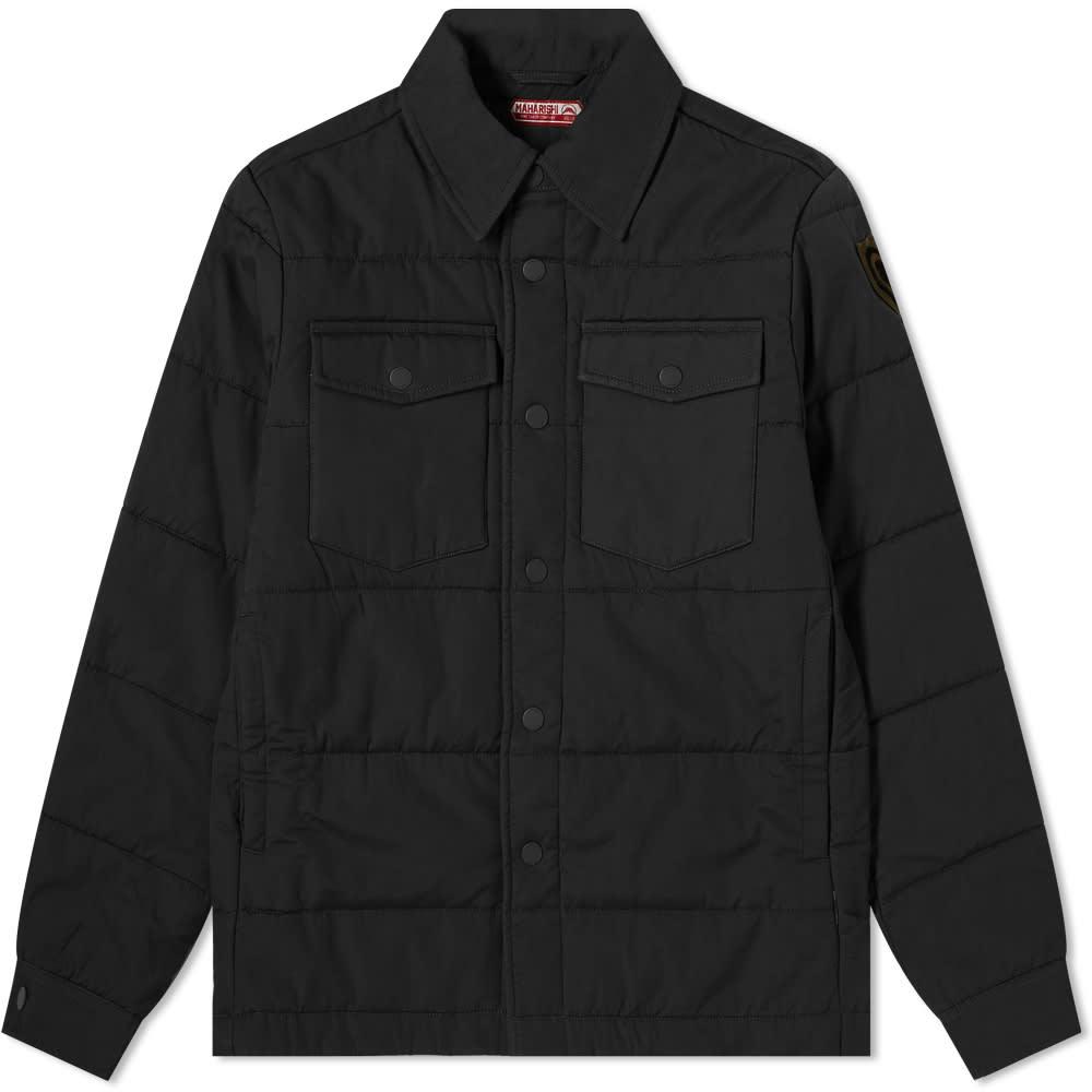 Maharishi Padded Shirt Jacket - Black